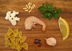Shrimpandgoatcheesepasta