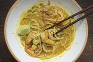 Thai Curry Noodles with Shrimp