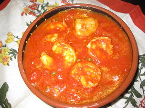 smoky shrimp and artichoke ragout with bucatini
