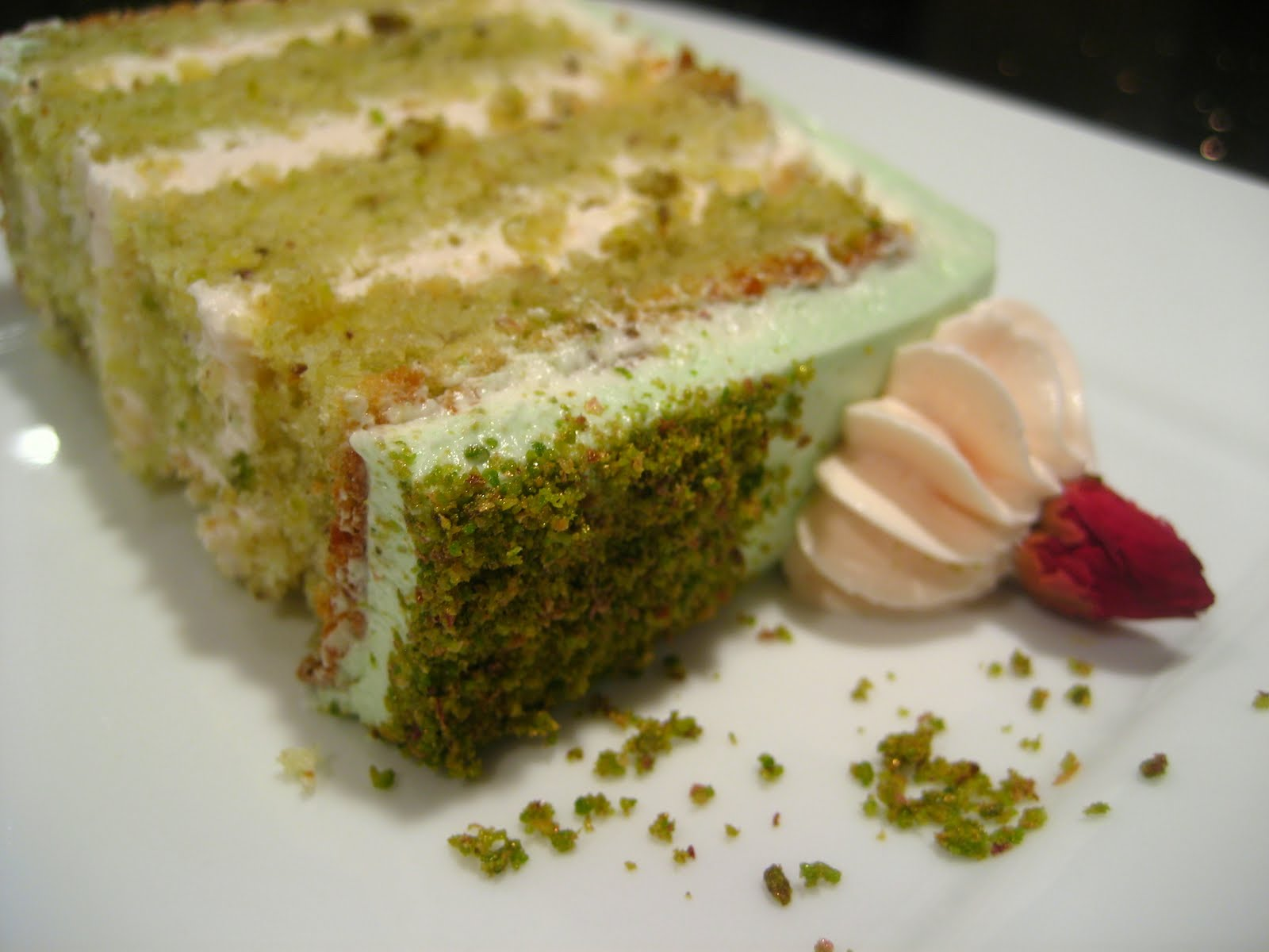 Goodnight Rose: Pistachio-Cardamom Cake with Rosewater Frosting Recipe ...