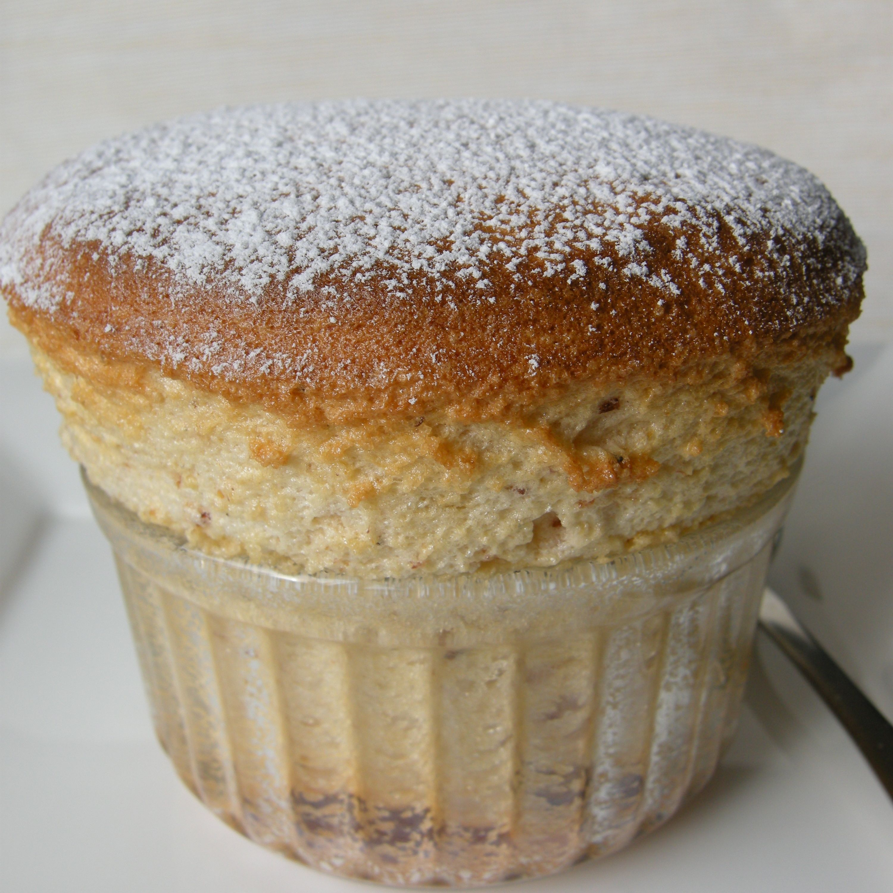 Cardamom  plum souffles