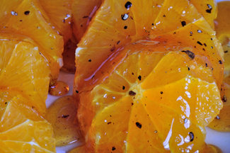 Caramel Oranges with Cardamom
