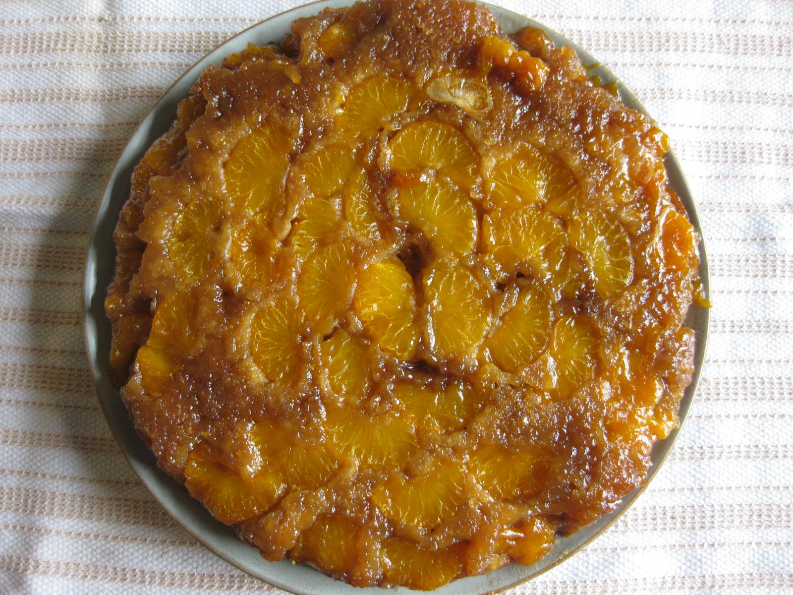 Orange Cardamom Upside Down Cake