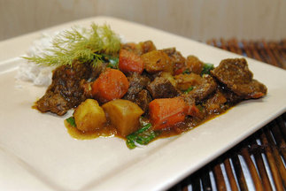Lamb Curry with Winter Vegetables and Spinach