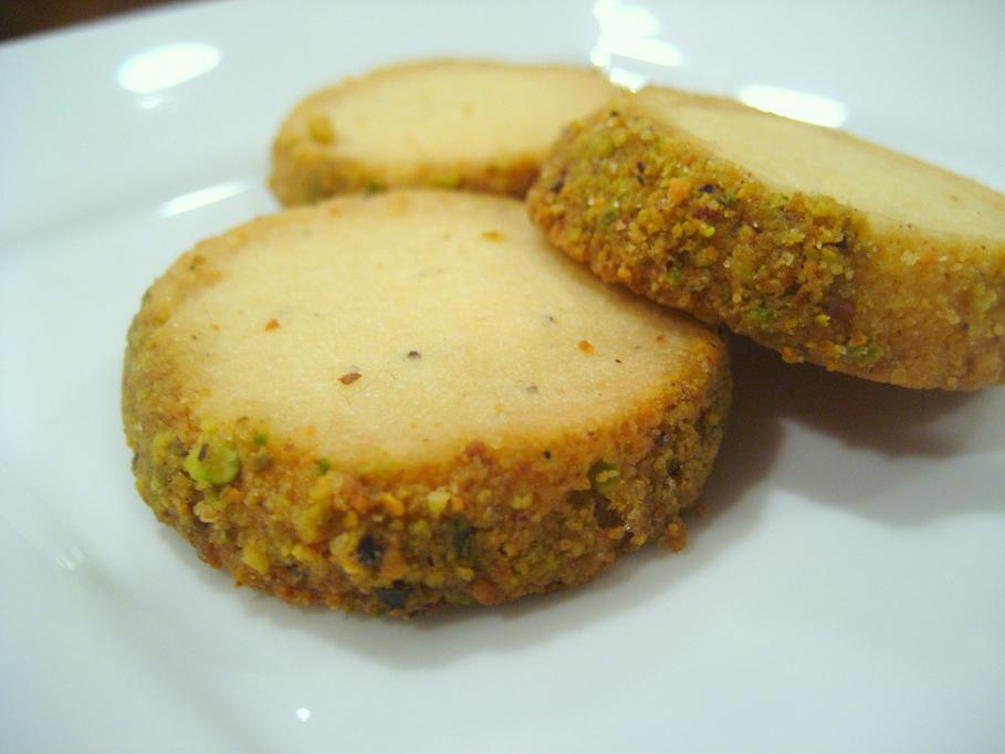 Cardamom-Pistachio Shortbread Cookies