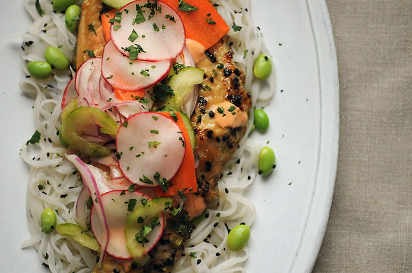 vietnamese catfish with pickled vegetables