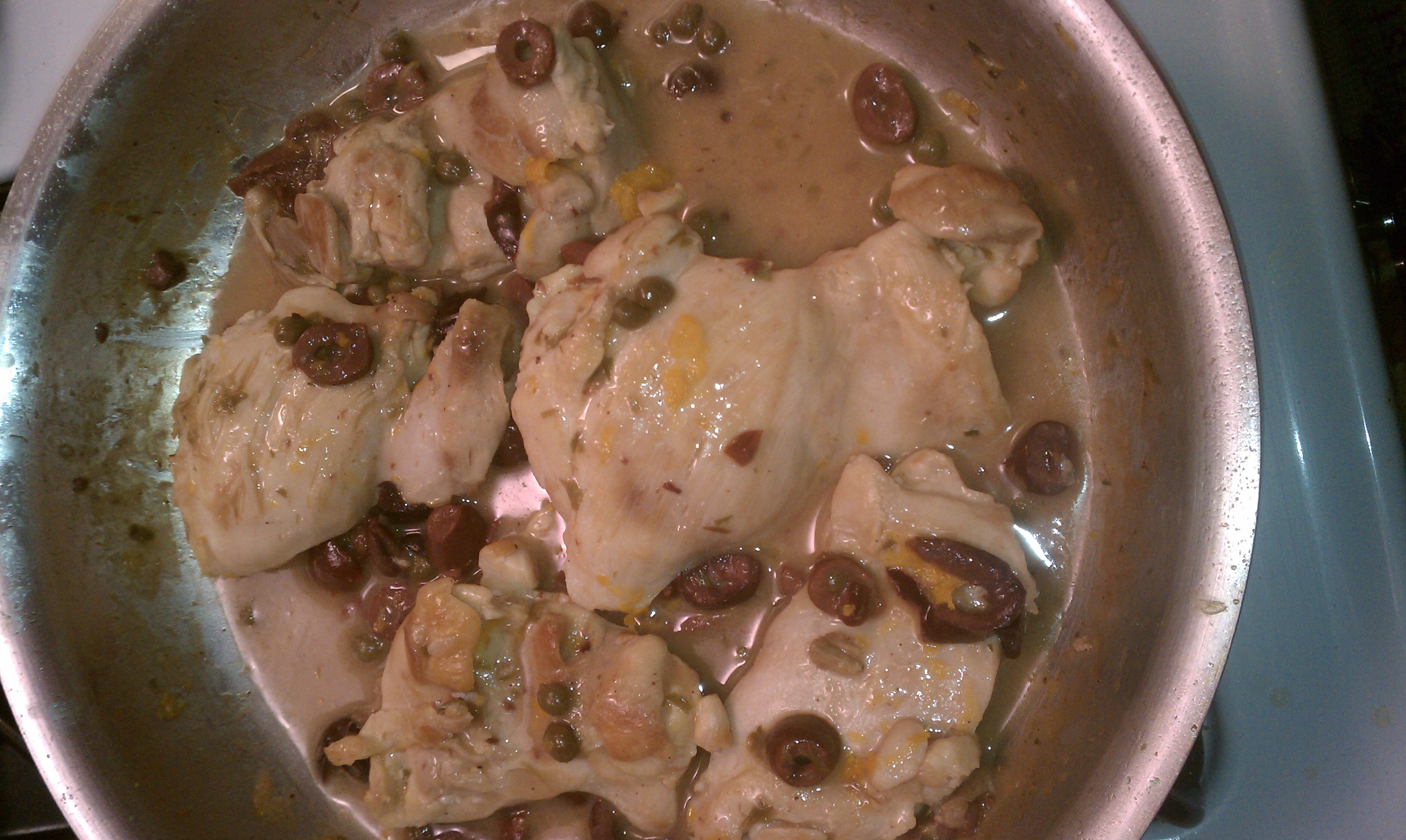 Chicken Thighs Glazed with Meyer Lemon and Kalamata Olives