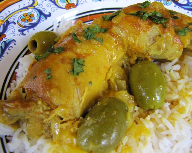 Moroccan Lemon Chicken with Olives