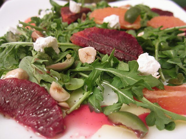 Blood Orange, Olive, and Arugula Salad
