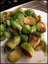 Simple Pan Roasted Brussel Sprouts