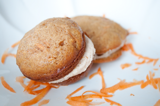 Carrot Cake Whoopie Pies with Cinnamon Cream Cheese Frosting