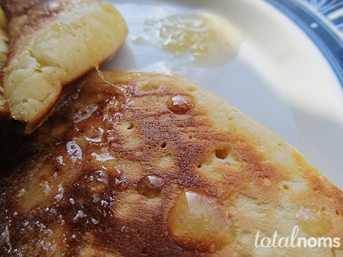 Carrot Pancakes with Honey Ginger Syrup