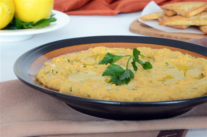 Roasted Carrot Red Lentil Dip