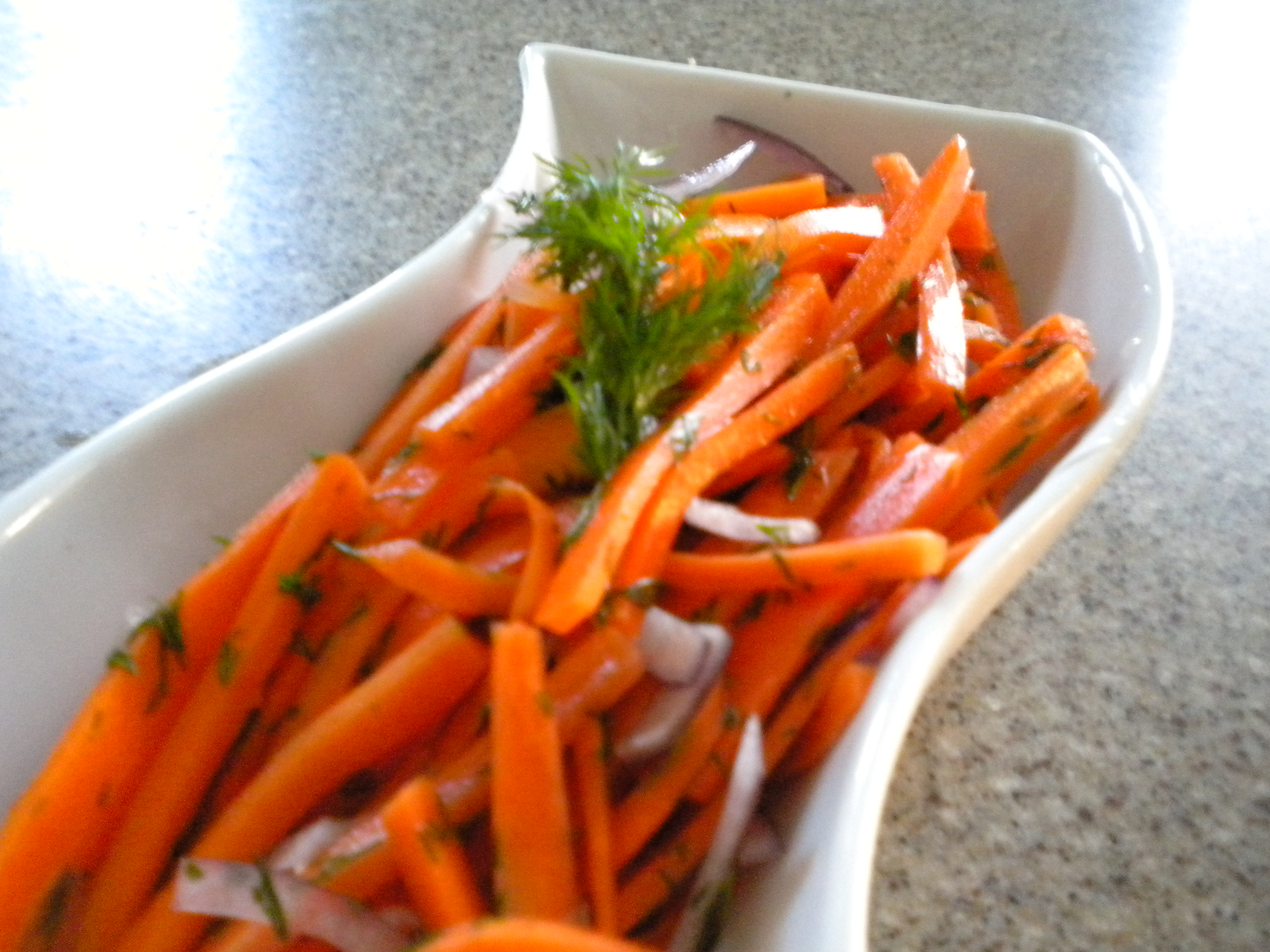 Wilted Dilled Carrots