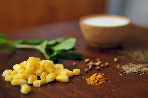 Buttermilk Corn Soup with Curry &amp; Mint