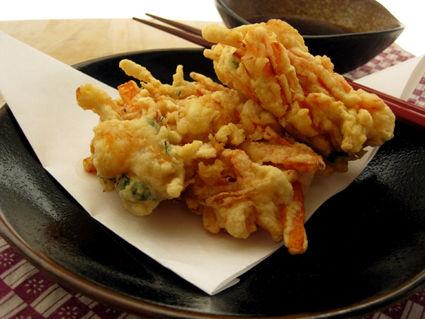 Carrot and Shrimp Kakiage (mixed tempura)