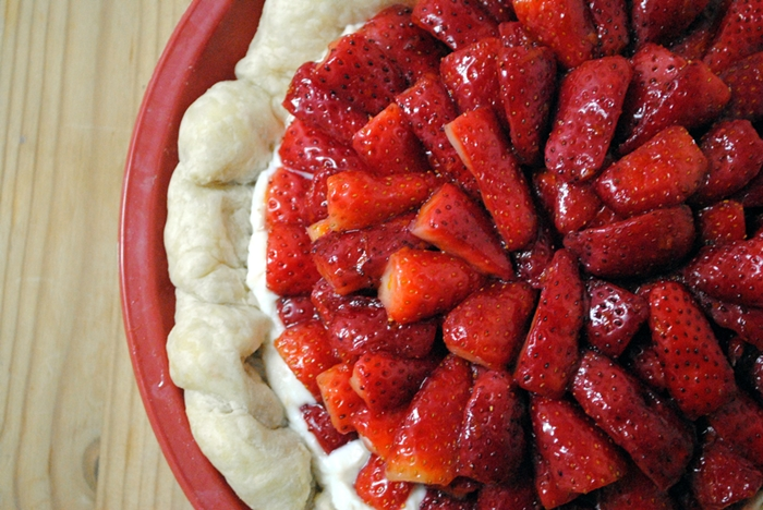 Israeli Winter Strawberry Ricotta Tart