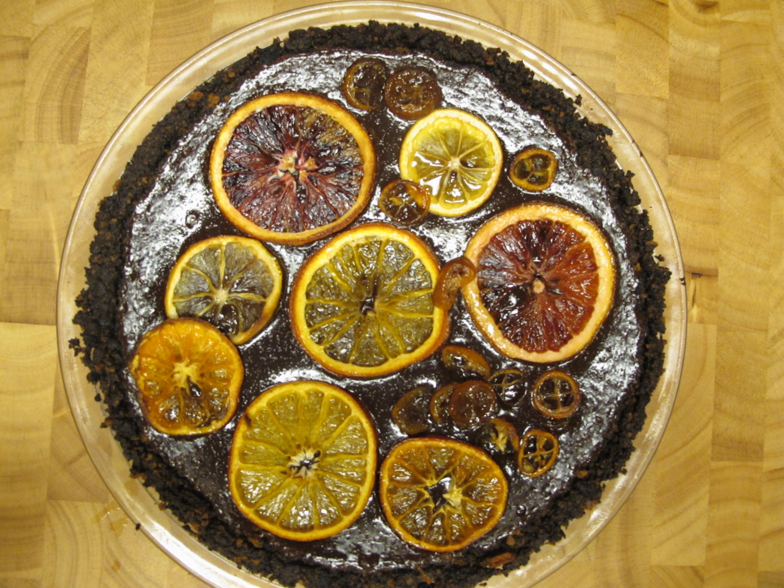 Chocolate Caramelized Orange Tart