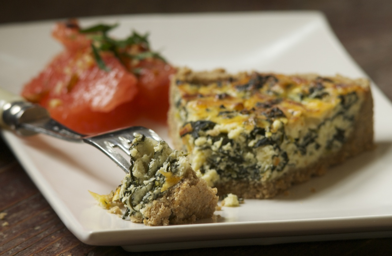 Cavolo Nero and Ricotta Tart