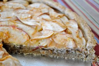 Apple, apple butter and cheese crostata