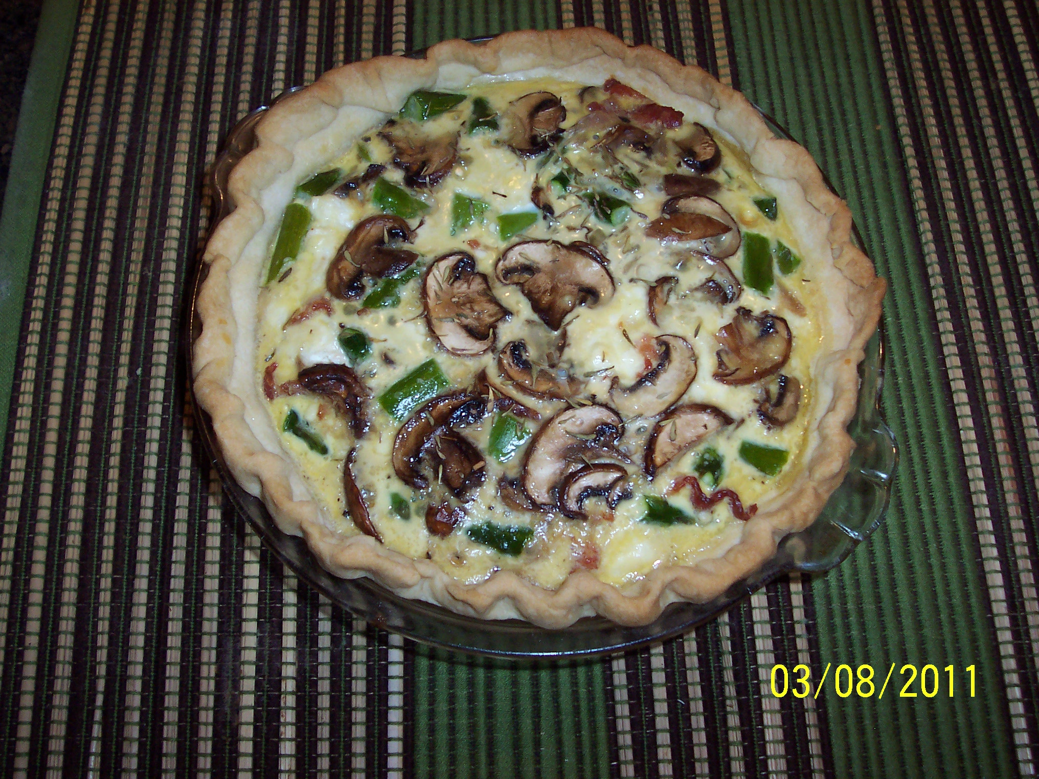 Baby Bella Asparagus Quiche with Goat Cheese