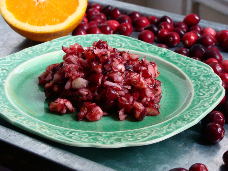 No-Cook Cranberry Salsa