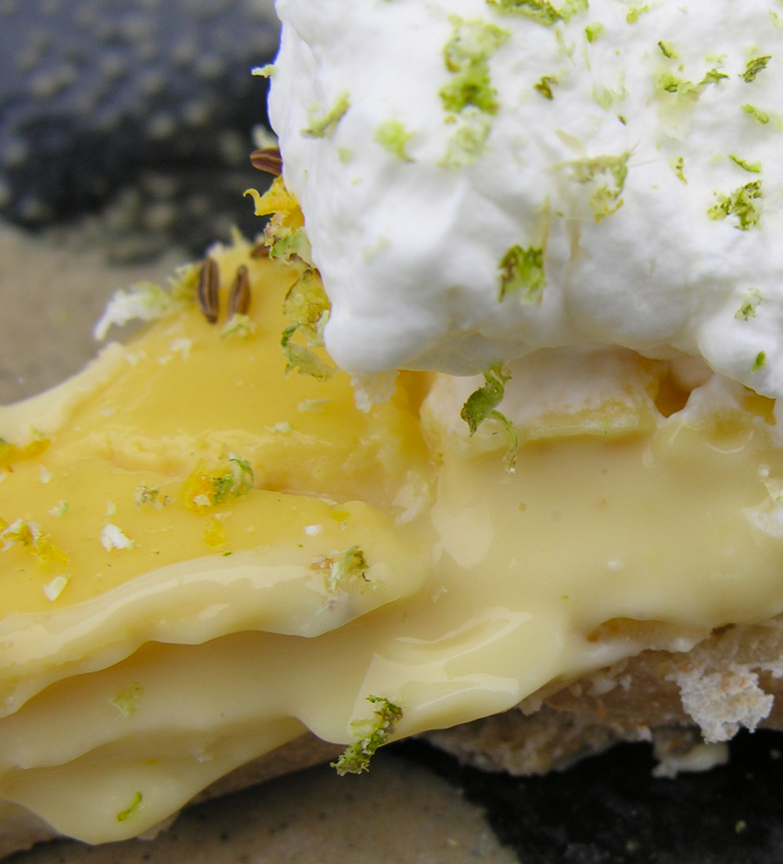 Rustic key lime pie, from the land of yogurt and honey