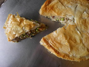 Mushroom and Pea Tart (vegan friendly)