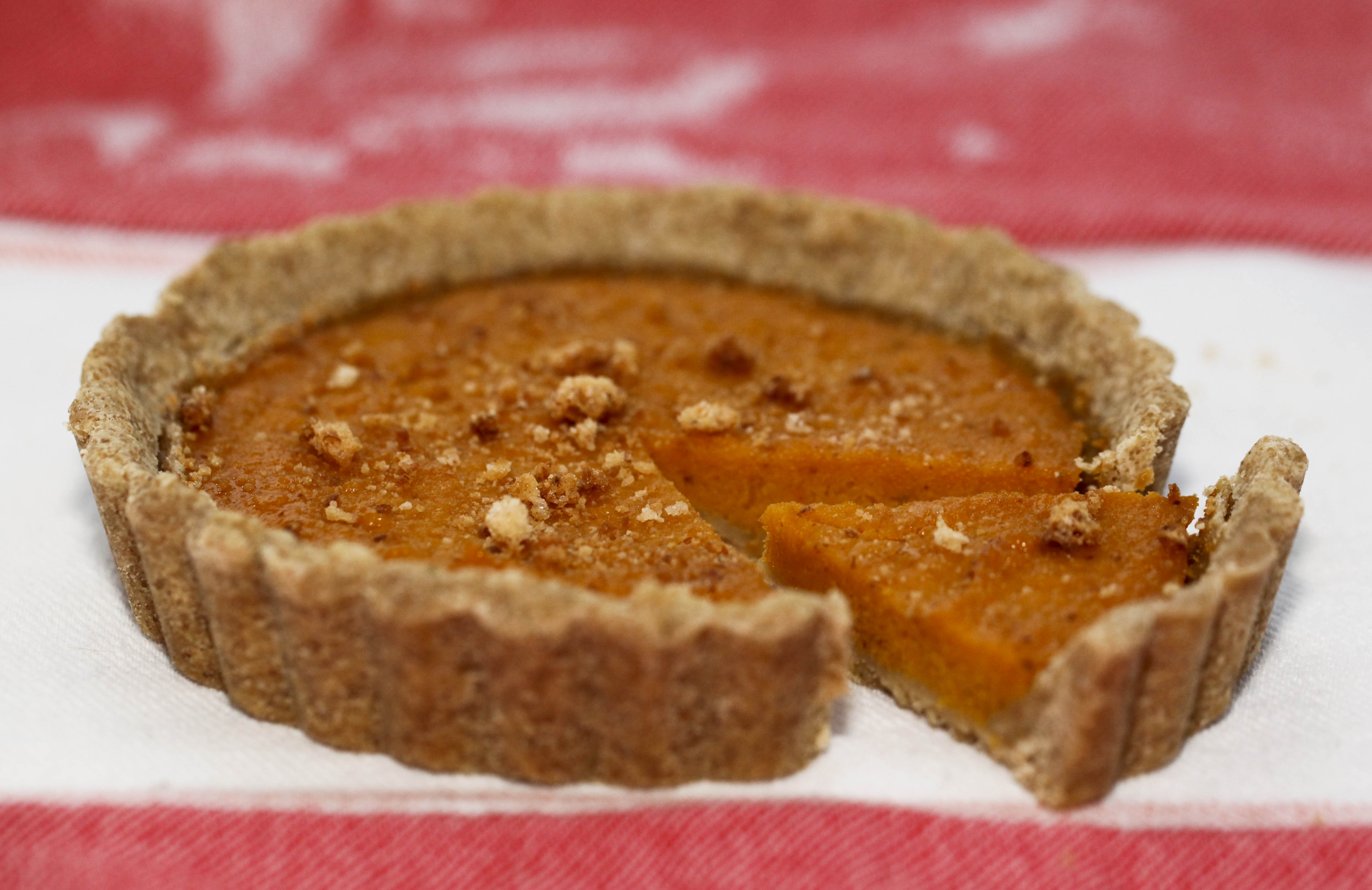 Roasted Butternut Squash And Amaretti Tart With Brown Butter Sage Crust