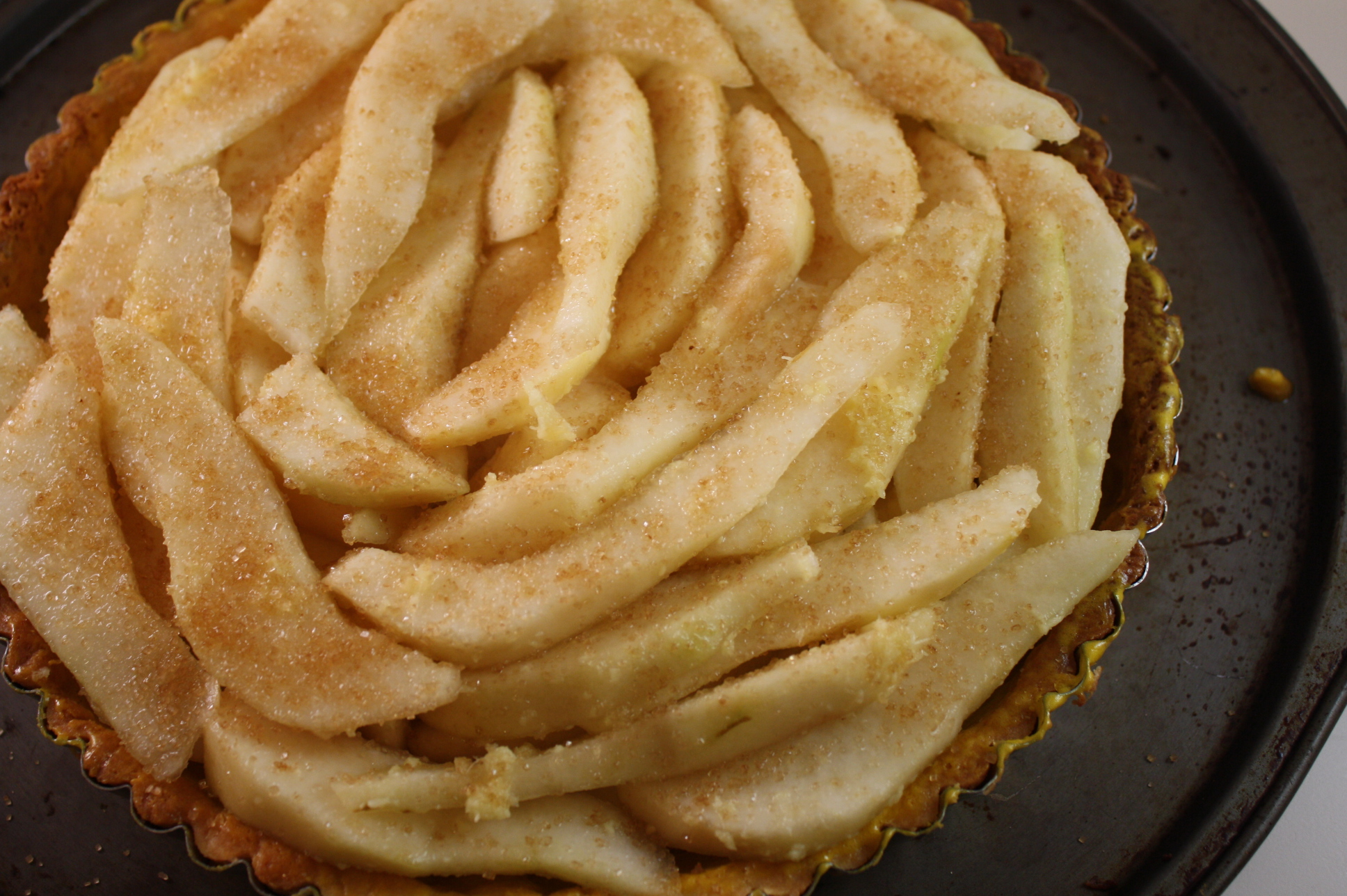 Fresh Ginger-Pear Tart