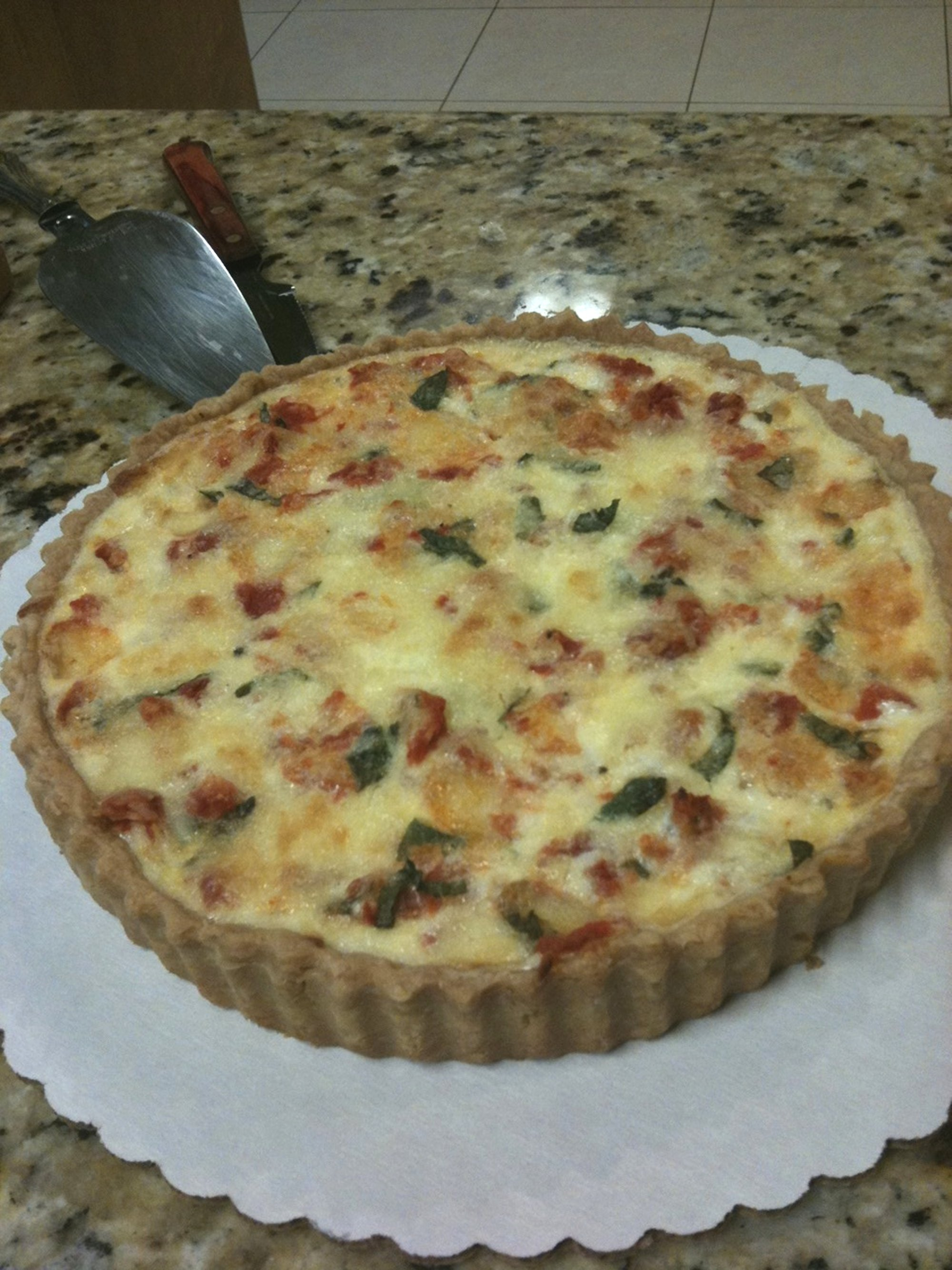 Quiche Caprese