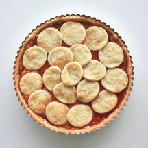 Quince Jelly Tart with Cinnamon Cream Cheese
