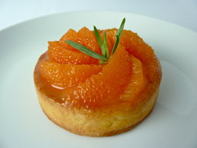 Cara Cara Orange Cream Tart with Honey-Tarragon Glaze