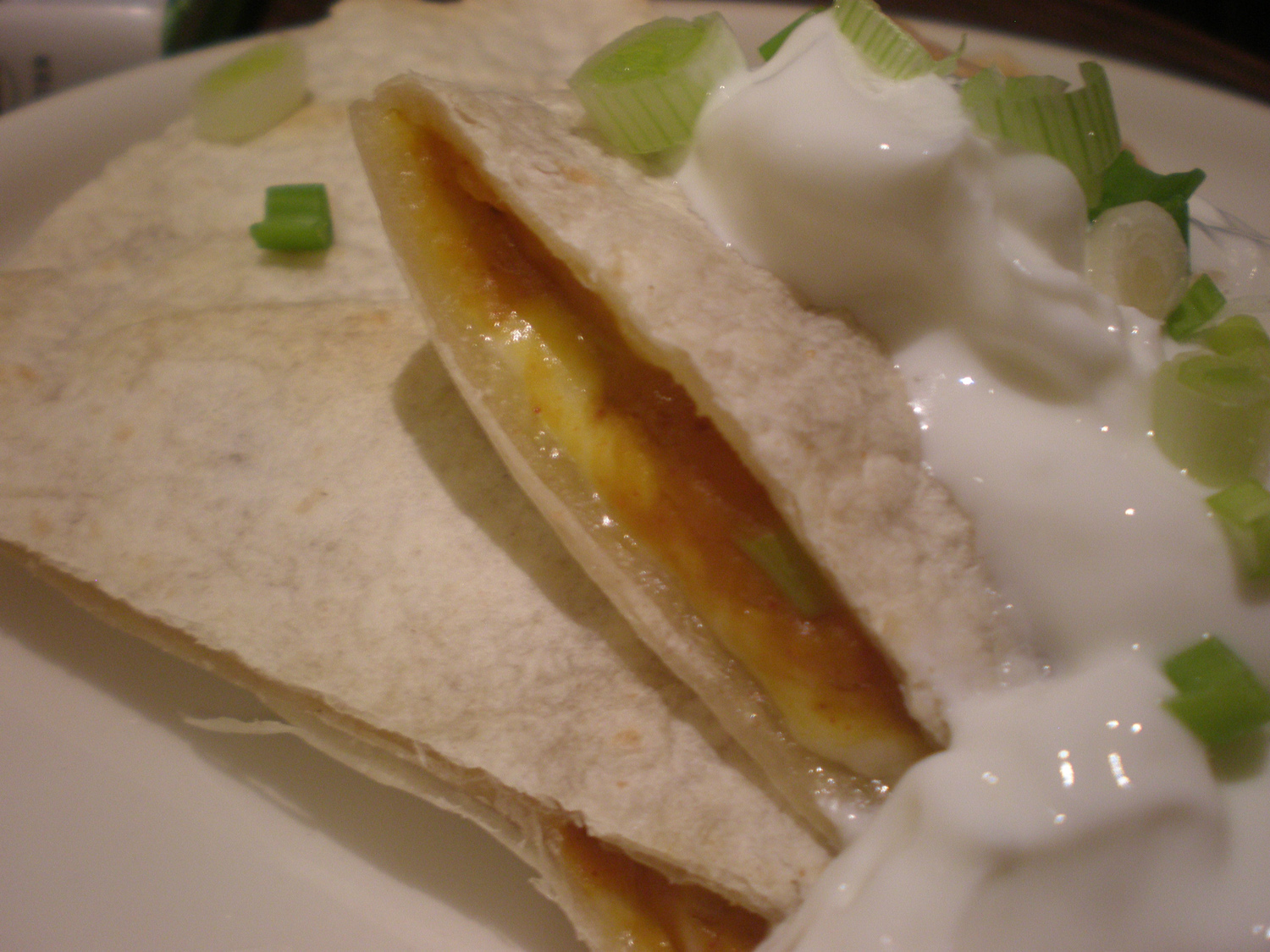 Quick Pumpkin Chile Quesadillas