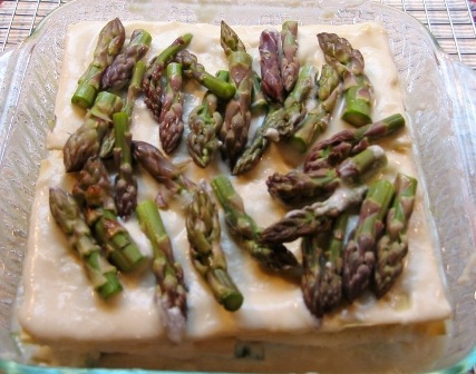Roasted Asparagus Lasagna