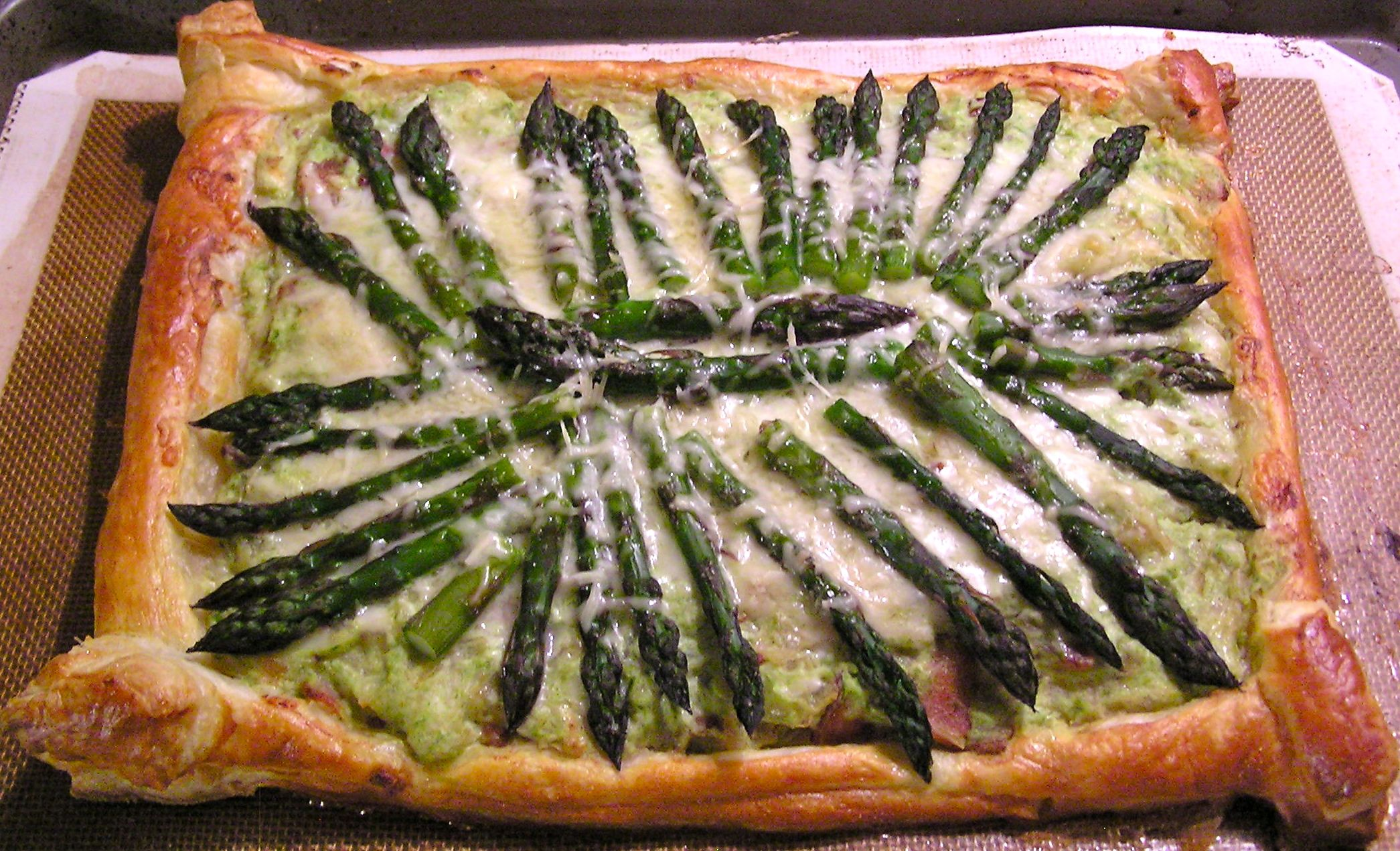 Asparagus, Zucchini and Ricotta Tart