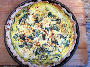 Spinach ricotta pie