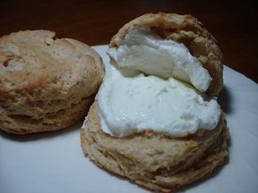 Curds &amp; Whey Biscuits with Infused Honey &amp; Ricotta Spread