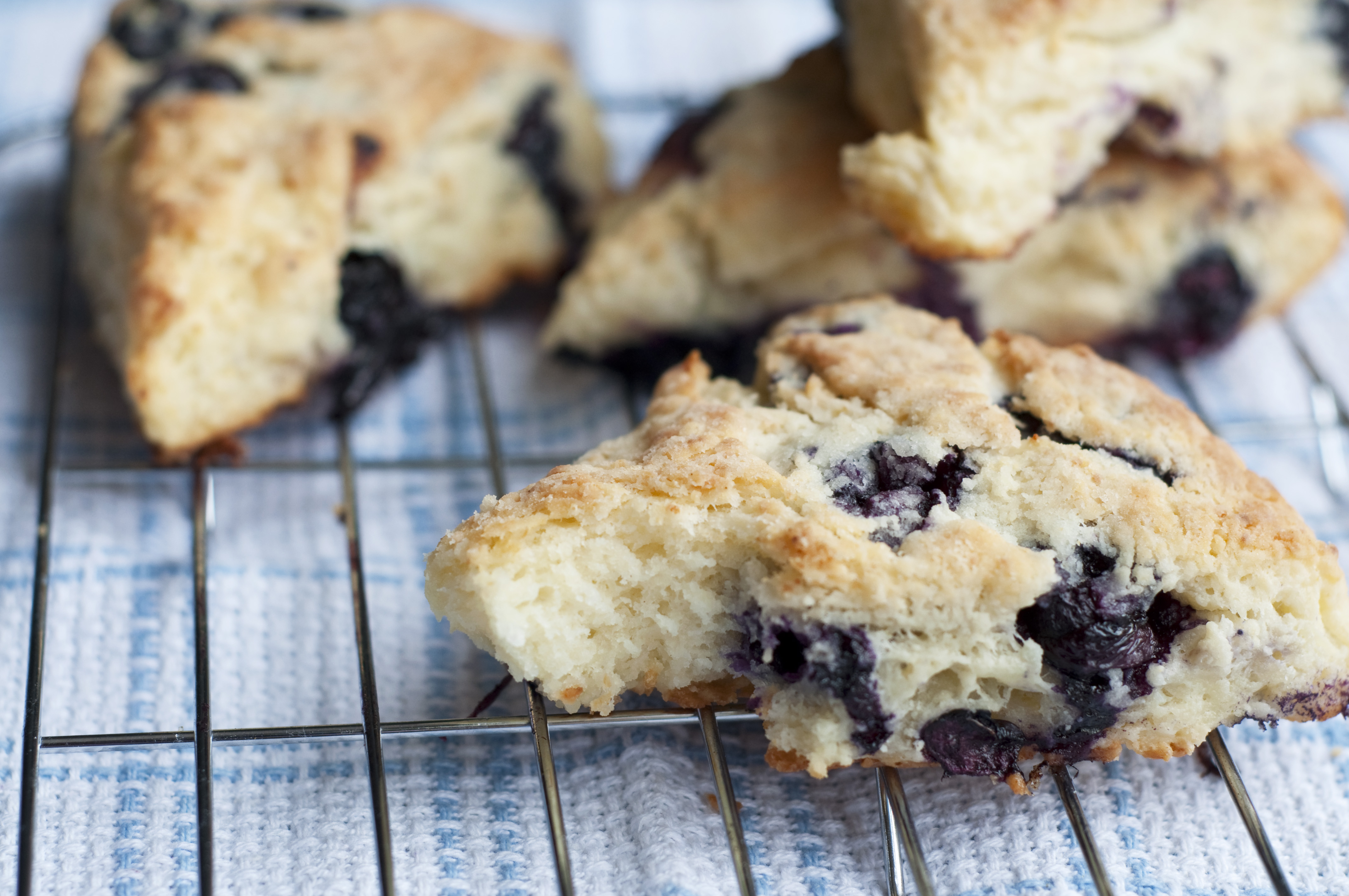 Lemon-Blueberry Ricotta Scones