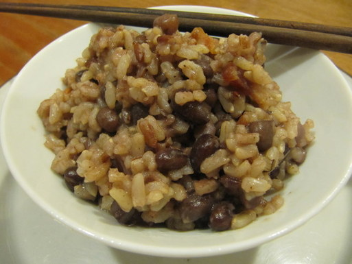 Perfumed Adzuki Beans and Rice with Bourbon and Bacon