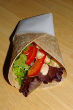 Whole Wheat Wrap with Oven Roasted Beans