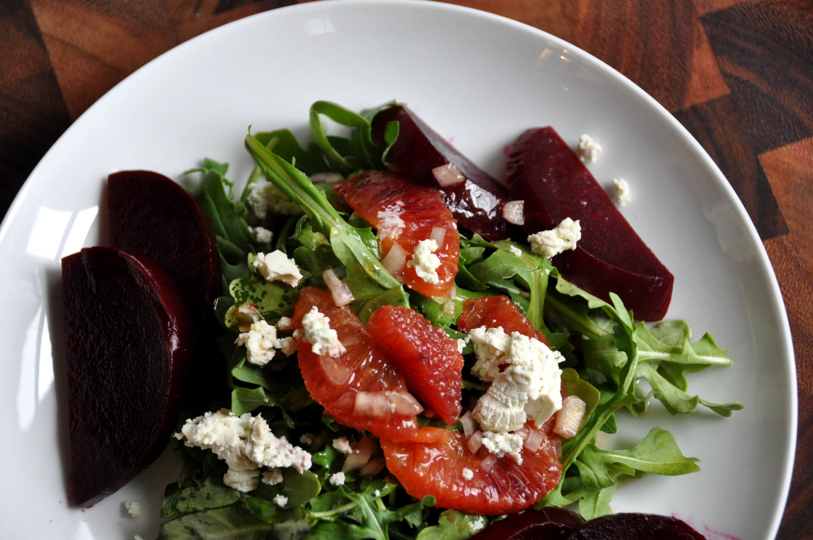 Beet Root Salad with Blood Oranges and Goat's Cheese