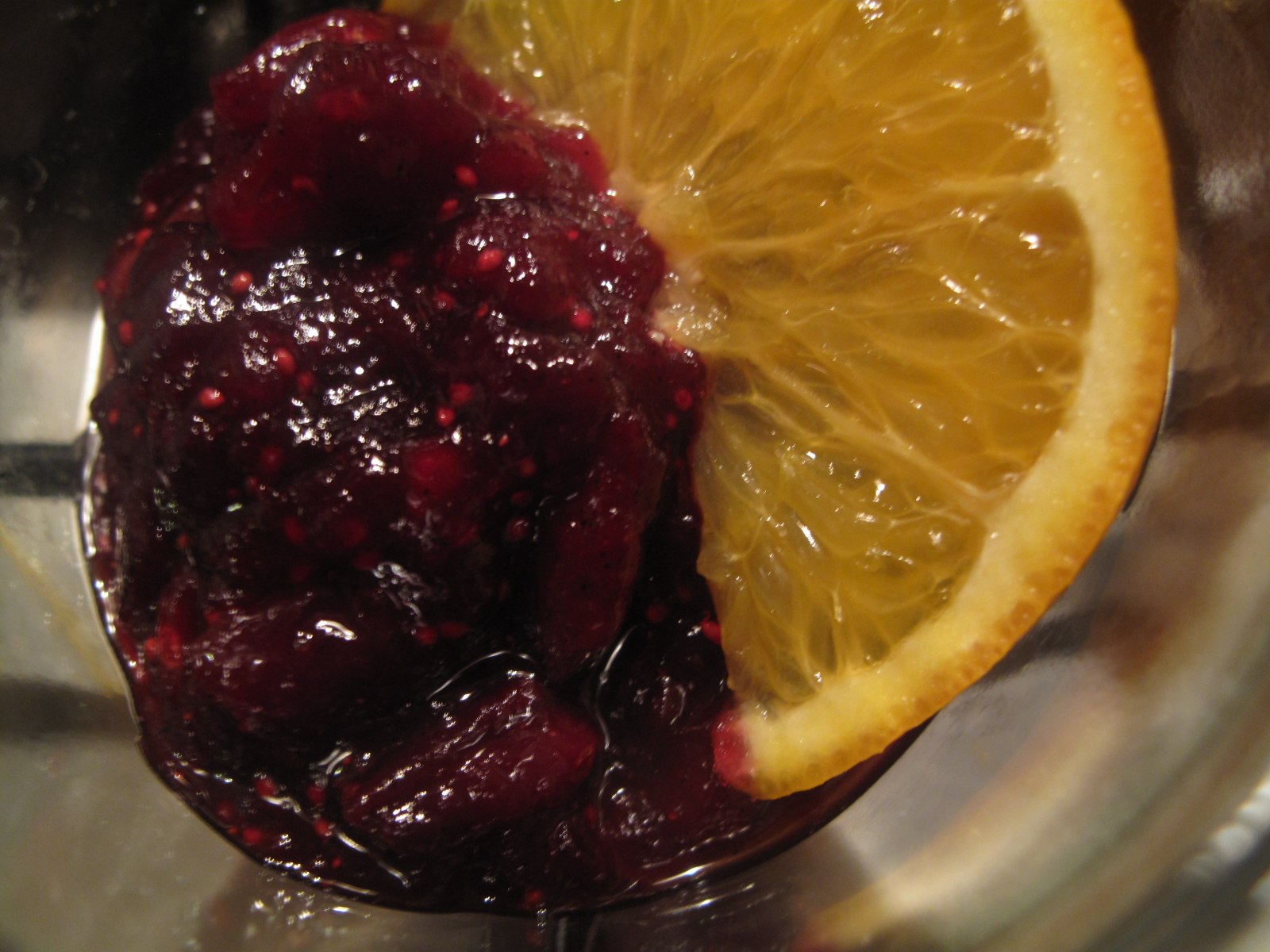 Mulled wine cranberry sauce