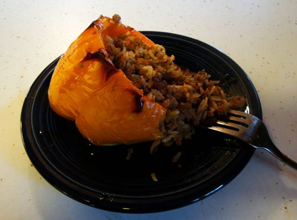 Spicy Asian Stuffed Peppers w/ Sweet Soy Glaze