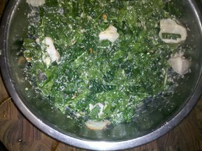 Kale Salad with Roasted Garlic-Horseradish Dressing