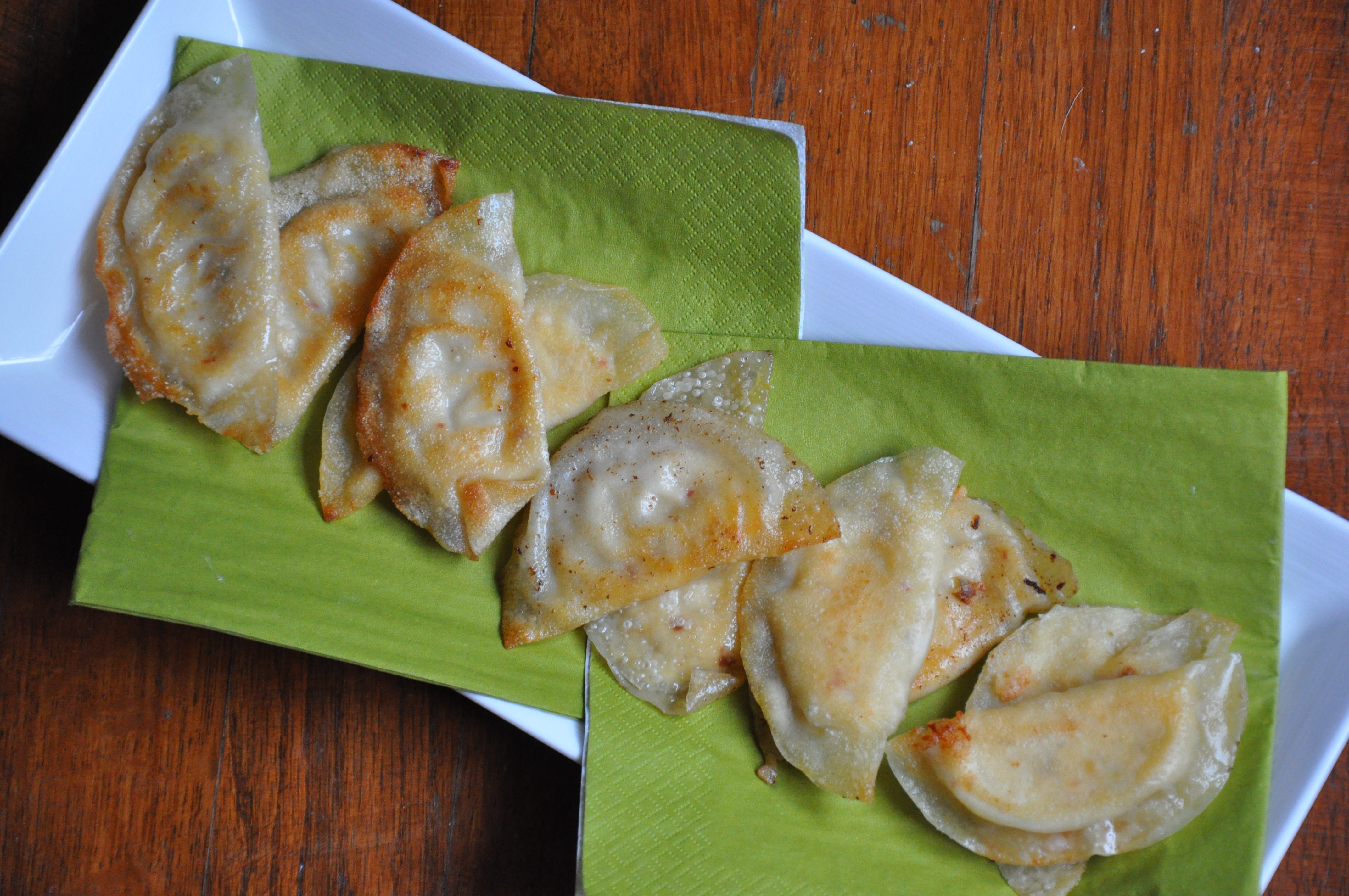 Spicy Cheese & Artichoke Pot Stickers