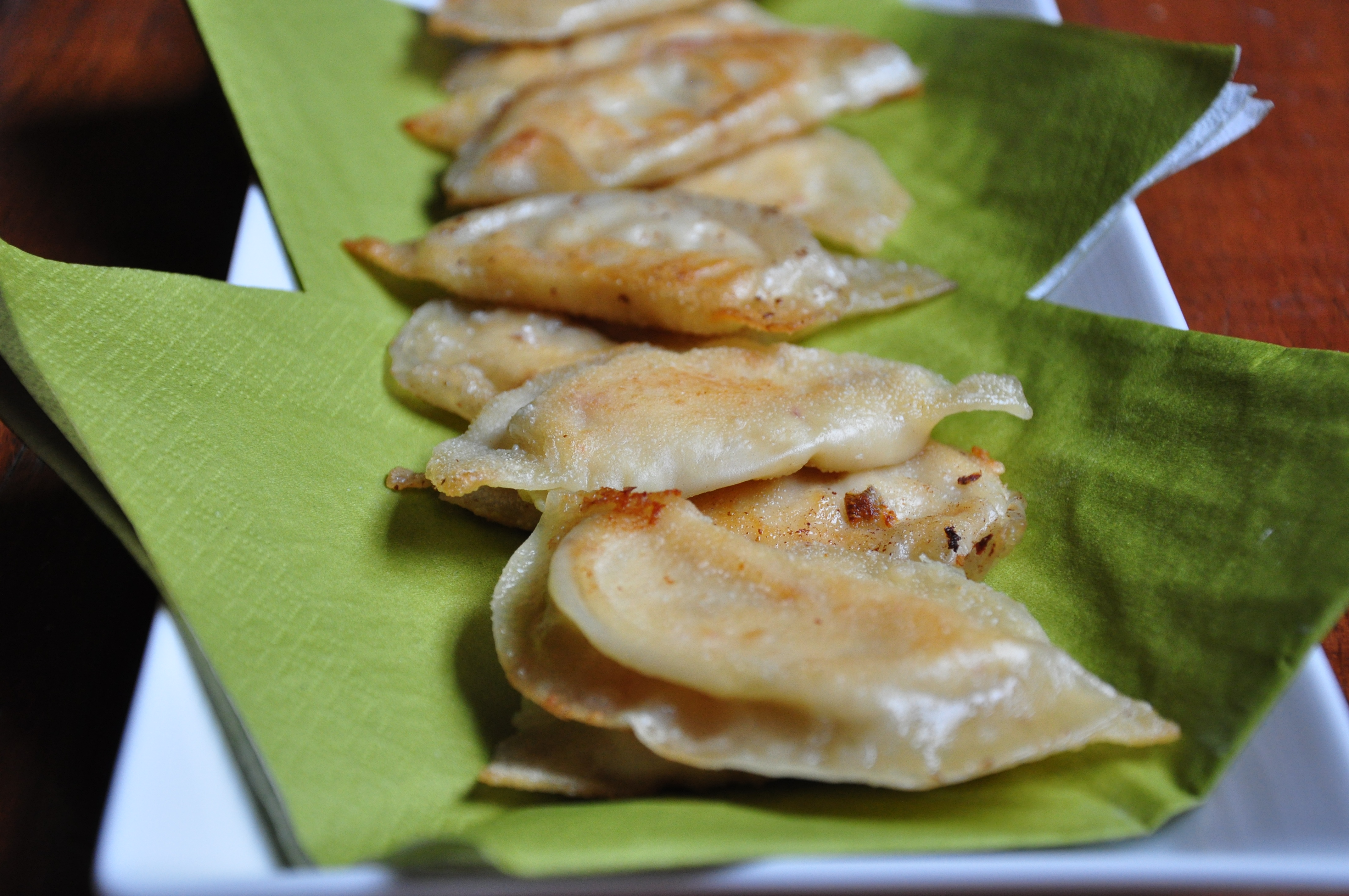 Spicy Cheese &amp; Artichoke Pot Stickers