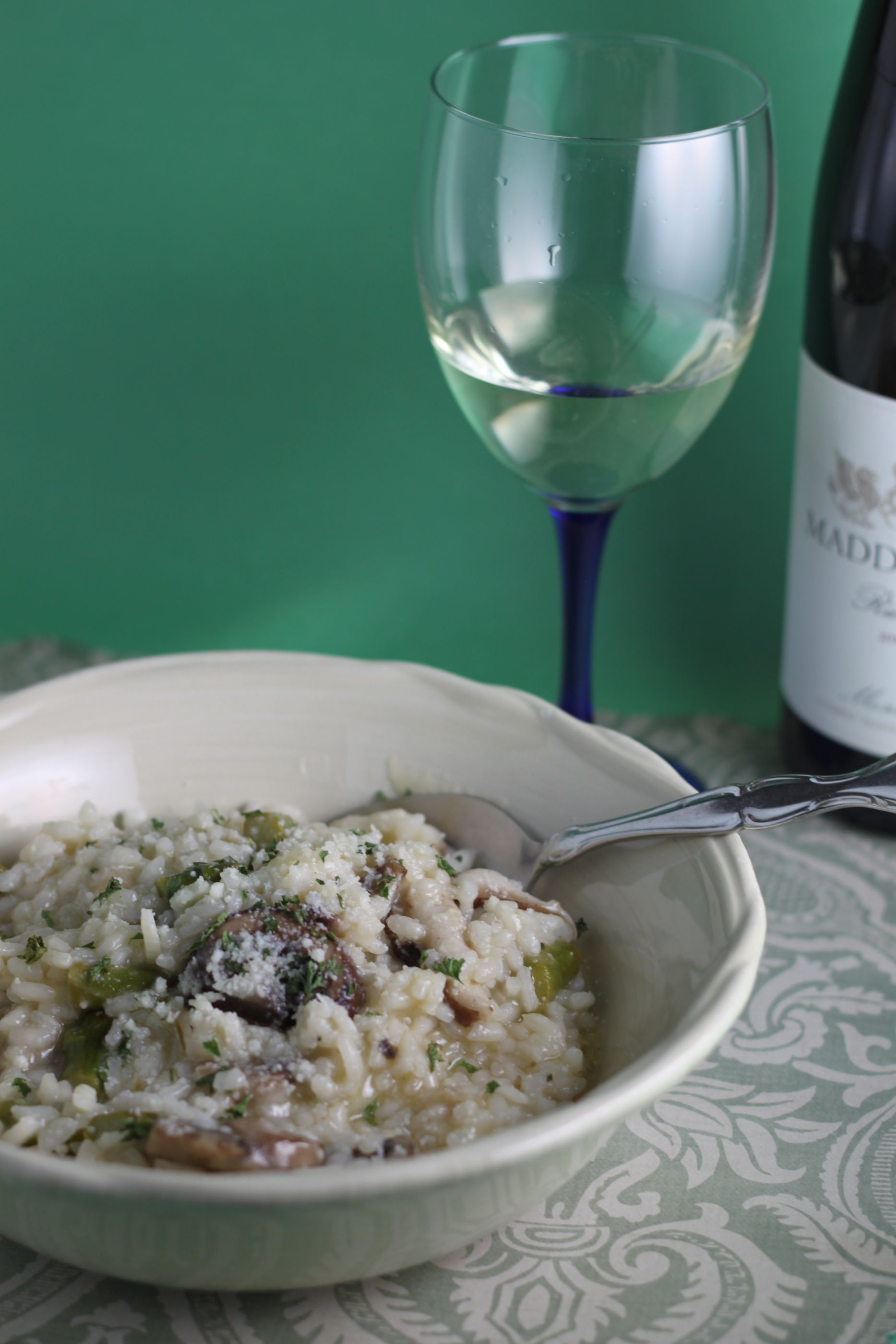 Mushroom Asparagus Risotto