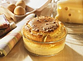 Mushroom and Cheese Soufflé