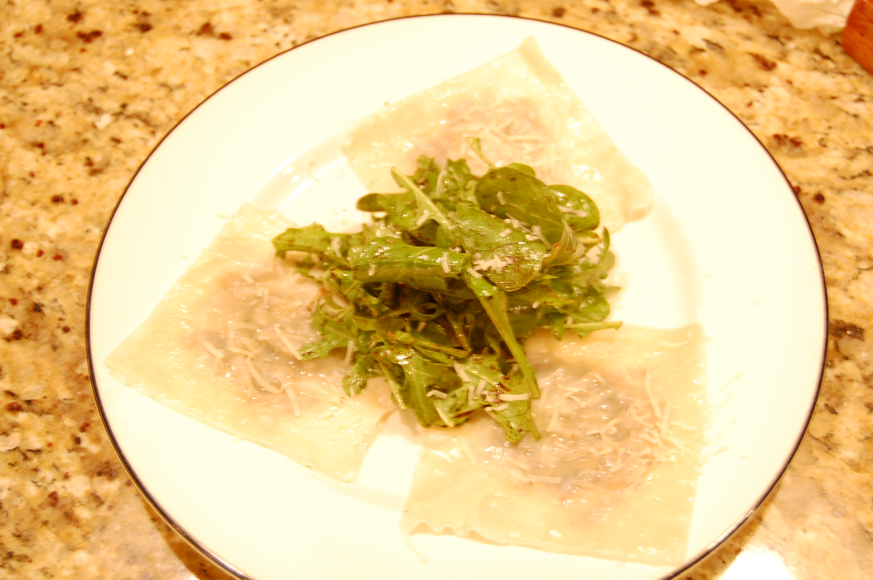 Truffled Wild Mushroom Ravioli &quot;Salad&quot;
